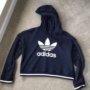 Adidas trefoil cropped hoodie